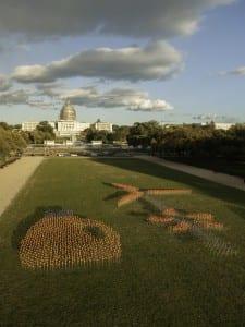 Se creó una 'granja de viento' con un molino gigantesco en Washington DC para celebrar la colaboración.