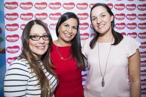 Stephanie Martínez, Marcela Brenes y Carolina Solórzano, Marketing Huggies Costa Rica.