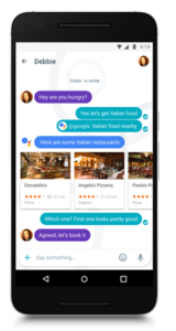 Google Allo, en sus teléfonos inteligentes.
