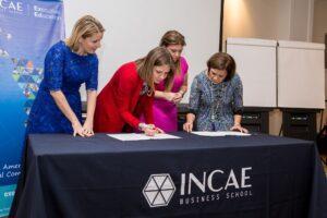 La firma del convenio Incae y Cargill, marca el relanzamiento del centro.